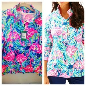 Lilly Pulitzer Windsor Pullover Flamenco Beach Nwt